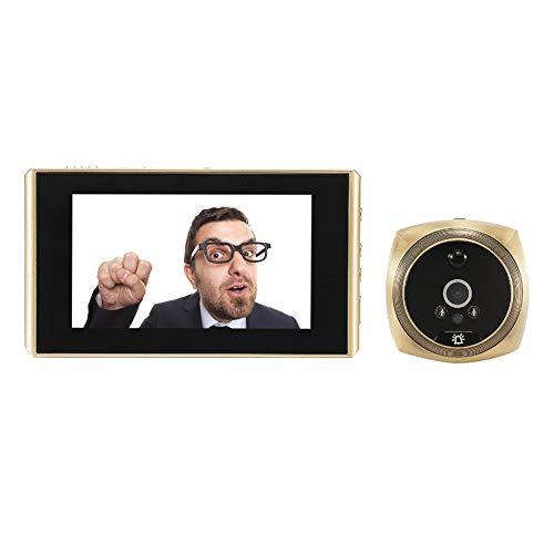 4.3 'Mirilla digital Timbre de 160 grados visión nocturna puerta ojo cámara inteligente gato hogar electrónica pulgadas vigilancia visual antirrobo video detección detección de movimiento versión