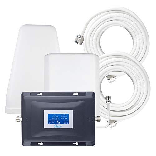 FUSTAR Handy-Signalverstärker, 3 Bänder, Signalverstärker, Band 12/13/17, Handy-Booster AT&T US Cellular Verizon 4G LTE Netzwerk Extender Cell Booster für Home LPDA Antenne LCD Bildschirm 5000 sq.ft