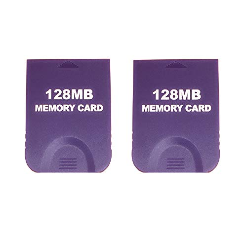 RUITROLIKER 2PCS 128MB Memory Card Speicherkarte für Gamecube & Wii - Lila