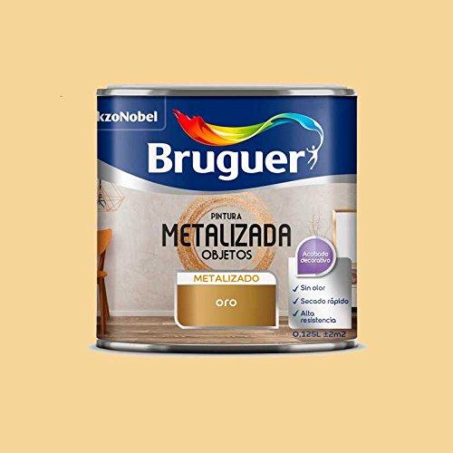 Pintura efecto metalizado para objetos Bruguer 125 ml (Oro)