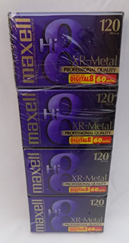 Maxell XR-Metal Professional Quality Hi 8 Camcorder Videotape 4 Pack