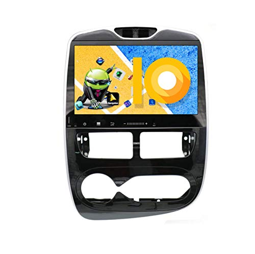 ZWNAV 10.1 Pollici Android 9.0 Car Stereo Navigatore GPS Navigazione per Renault Clio 2013 – 2016, Europa 49 Country Mapping, Lettore Dvd, SWC, WiFi, Bluetooth, IPS Touch Screen