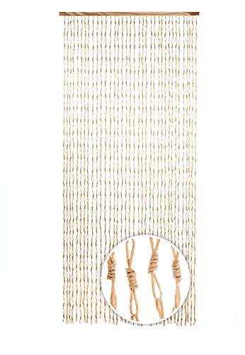 Kobolo Türvorhang Papiervorhang Circles beige 90x200 cm