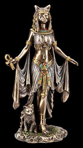 Unbekannt Altägyptische Bastet Figur mit Ankh Veronese | Katzengöttin, Deko-Figur, Deko-Artikel, Skulptur, Statue, H 25,5 cm