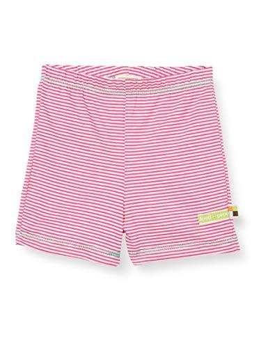 loud + proud Mädchen Striped Organic Cotton Shorts, Rosa (Azalea Aza), (Herstellergröße: 122/128)