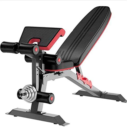 Timtools Adjustable Weight Bench Gym Home, Foldable Sit-up Board Easy Storage Leg Fixation Dumbbells Fitness Exercise Strength Training Fitness Training