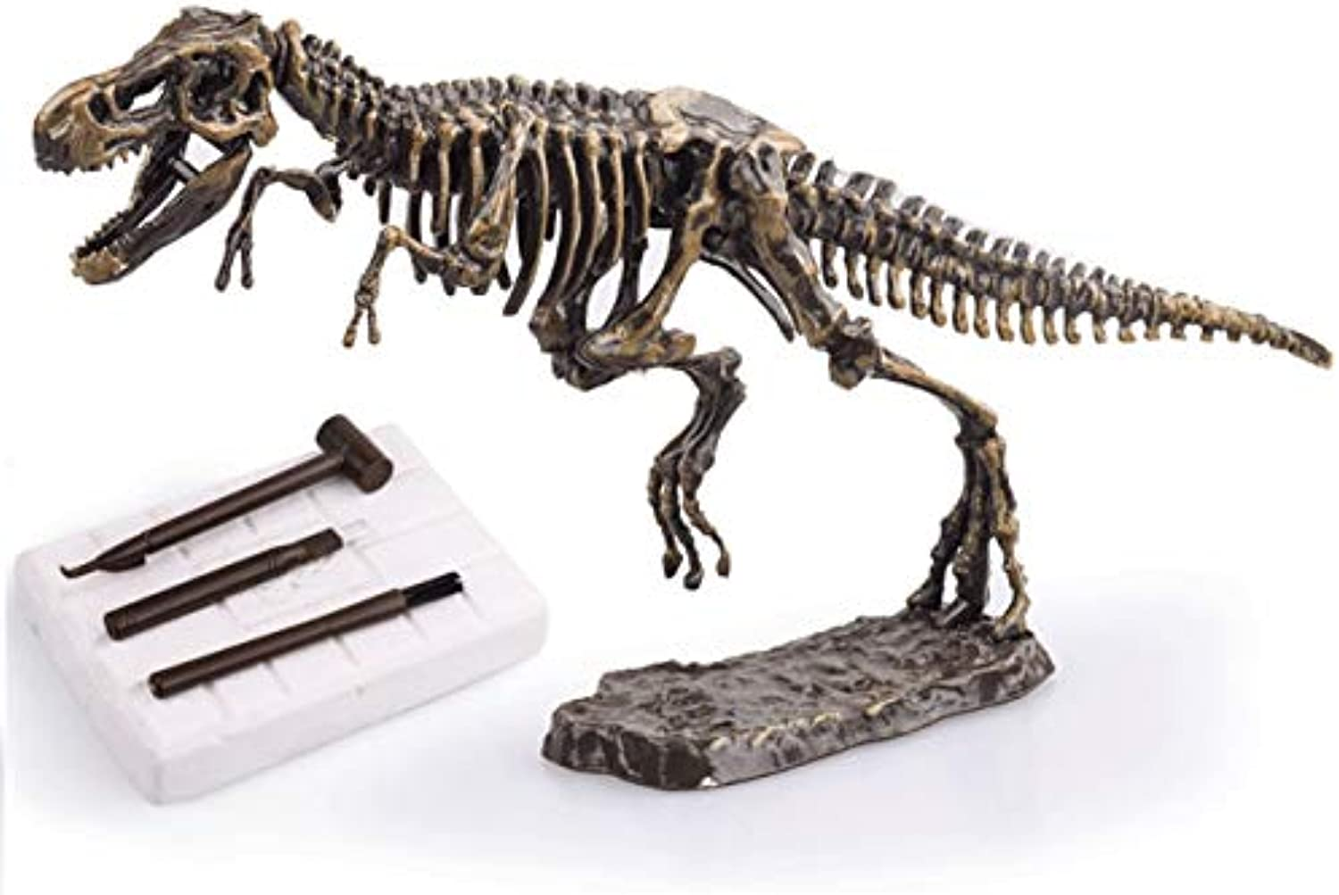 Laliva Dinosaur Science Kit Dig Up Dino Fossils and Assemble a T-Rex Skeleton, Mammoth,Triceratops - (color  t rex)