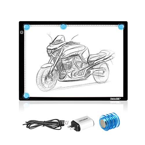 A3 Light Box,Magnetic Artcraft Tracing Light Pad LED Light Board Ultra-Thin USB Powered Brightness Dimmable for Diamond Painting Tatoo Pad Animation,Sketching, Designing,Stencilling X-ray Viewing