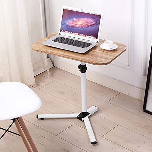 Sofá móvil sobre la cama Mesa auxiliar Mesa de regazo Soporte para computadora portátil Ajuste de altura Escritorio de pie para computadora con ruedas Mesita de noche Carrito para el hogar Sofá cama
