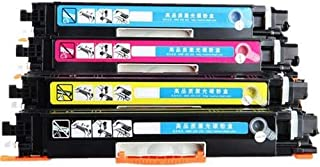 Set of 4 Compatible Laser Toner Cartridge Replace HP CF350A/351A /352A CF353A (130A),Use for HP ColorLaserJet Pro MFP M176n M177fw