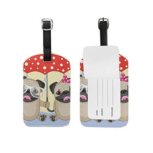 DEZIRO Twee Honden met Paraplu Carnaval Cruise Tags Bagage Tas Tag