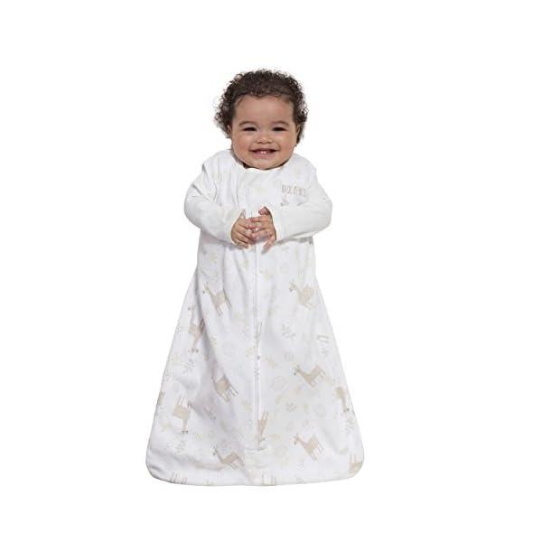 HALO Sleepsack Wearable Blanket Cotton Llama Sand, Size Large