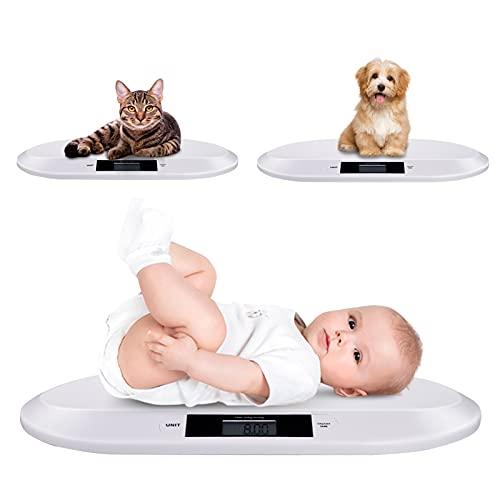 Babywaage, Digitale Kinderwaage bis 20Kg, Babywaage elektronische mit digitale LED Anzeige, Hochpräziser Sensor, LCD Display, Tara-Funktion, hohe Ablesegenauigkeit, automatische Abschaltung
