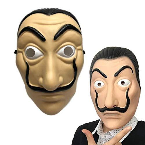 Amycute Máscara de Salvador Dali Careta Cosplay Disfraz Má