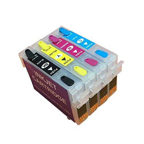 WSCHENG 92 92N T0921N-T0924N Cartucho de Tinta Recargable para EPSON T26 T27 TX117 TX119 TX106 TX109 C91 CX4300 Impresora con Chips de Arco