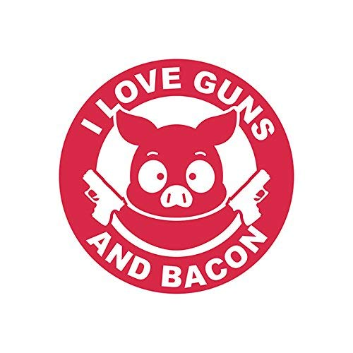 Magnet I Love Guns and Bacon Magnetic Vinyl 2a Gun Rights Humor Pig Car Magnet Bumper Sticker