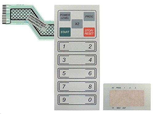 Teclado para microondas Makro-Professional GMW1025, Metro-Professional GMW1025, 15 teclas, longitud 164 mm, ancho 70 mm, 2 piezas