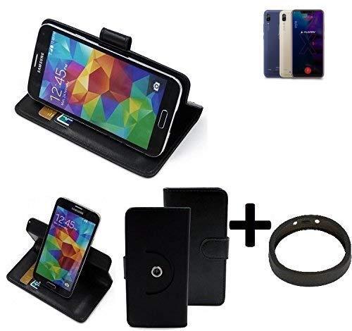 K-S-Trade® Case Schutz Hülle Für Allview Soul X5 Style + Bumper Handyhülle Flipcase Smartphone Cover Handy Schutz Tasche Walletcase Schwarz (1x)