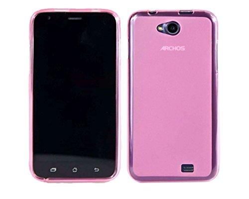 caseroxx TPU-Hülle für Archos 50C Platinum, Handy Hülle Tasche (TPU-Hülle in pink)