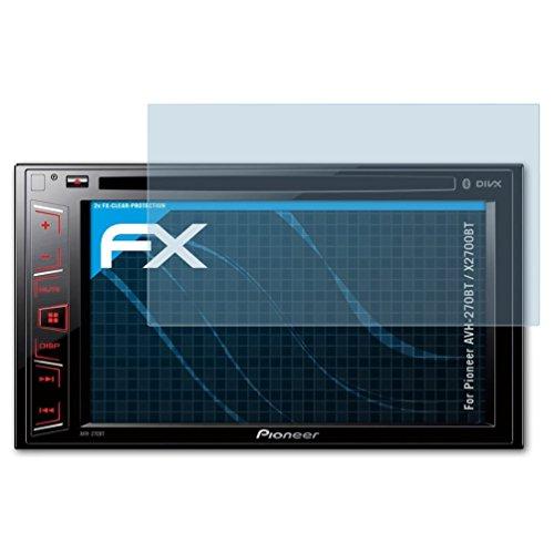atFoliX Schutzfolie kompatibel mit Pioneer AVH-270BT / X2700BT Folie, ultraklare FX Displayschutzfolie (2X)