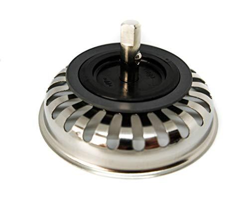 Siebkorbeinsatz für Villeroy und Boch Spülen. Für Ablauf ohne Exzenterbedienung mit 82 mm Durchmesser/Baujahr nach 1997 / Siebkorb/Siebkorbeinsatz