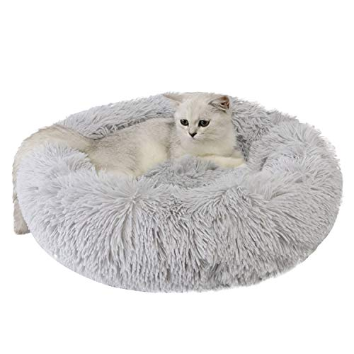 Legendog Pet Bed Creative Round Warm Soft Fluffy Plush Pet Sleeping Bed Cat Bed