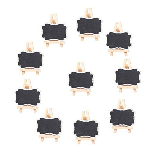 NUOLUX Mini lavagna Lavagnette messaggi per numero tavolo per feste e matrimoni segnaposto confezione da 10 - taglia L