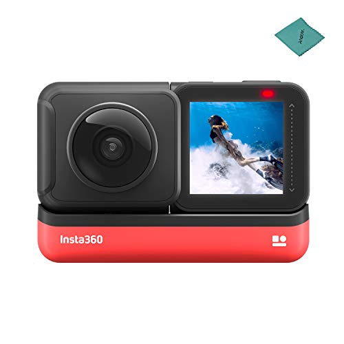 Insta360 ONE R 360 Edition Sports Action Camera with 5.7K 360° Panorama Lens 5M Body Waterproof Supports FlowState Stabilization Hyperlapse Voice Control Slow Motion Night Shot HDR Photo Video