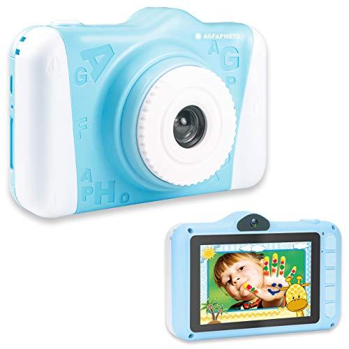 AGFA Foto Realikids CAM 2 - Cámara de Fotos Digital para niños (Fotos de 12 MP, vídeo, Pantalla LCD de 3,5 Pulgadas, filtros de Fotos, Modo Selfie, batería de Litio) Azul
