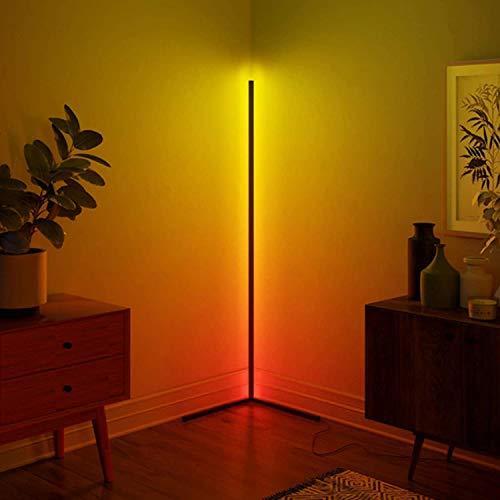 WFWPY LED Stehlampe Dimmbar RGB Lampe Ecke Dekoration Mit Fernbedienung Für Wohnzimmer Schlafzimmer Farbwechsel Lichtsaeule RGB Farbtemperaturen Und Helligkeit Stufenlos Dimmbar