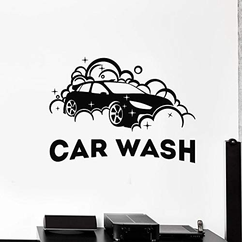 Kreative Autowaschanlage Wandaufkleber Auto-Reinigung Garage Service Kunst Aufkleber Fenster Tür Schlafzimmer Dekoration Logo DIY Vinyl Wandbild