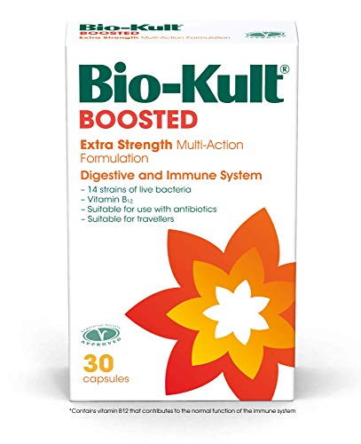 Bio-Kult Boosted - 4 x Concentration of Original Bio-Kult + Vitamin B12 - for Immune System Support – 30 Capsules