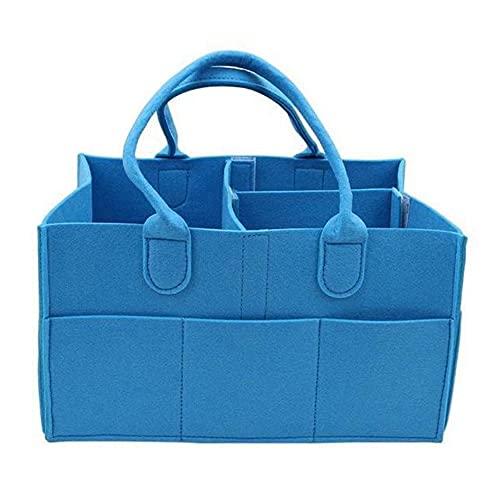 GKYI Organizador de pañales para bebé, portátil, cesta de almacenamiento para cambiador de mesa, pañales, ropa de juguetes