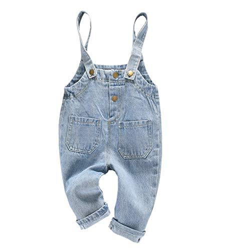 ACMEDE Baby Mädchen Denim Overall Jeans Hose mit Hosenträger Kinder Baumwolle Latzhose Baby Jungen Latzhose Denim Overall 3 Monate - 4 Jahre