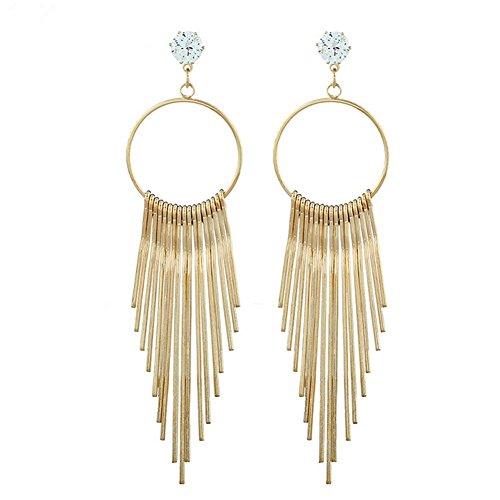 Hosaire Ohrringe Mode Übertriebene Lange Quasten Damen Ohrring für Geburtstag Geschenk Ohrhänger