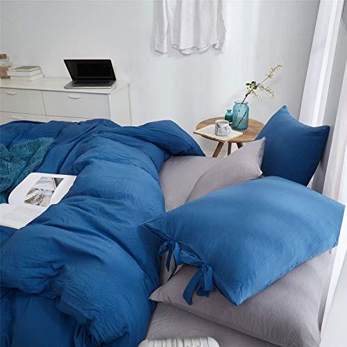 DaMai's Home Lichtgewicht design voor winter en herfst, blauw beddengoed, dekbedovertrek van microvezel, sprei KING