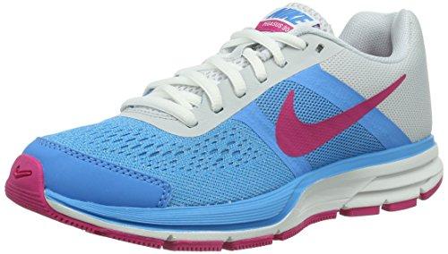Nike Air Pegasus+ 30 (GS) 599700 - Scarpe da Corsa da Bambina, Blu (Blu Vivid Blue Vivid Pink Pr Pltnm), 36.5 EU