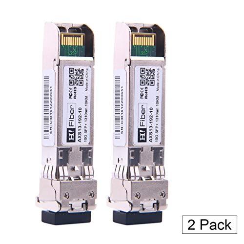 10Gb/S SFP+ Singlemode Transceiver (10km, 1310nm), 10Gbit SFP+ LR LC Modul für Intel E10GSFPLR,Ubiquiti UF-SM-10G-20,Netgear AXM762,Mikrotik ,D-LINK,TP-LINK und andere offene Schalter【2Pack】