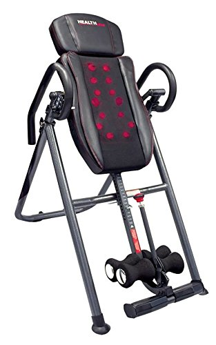 Price comparison product image Health Gear ITM7.0-S Patented Deep Tissue Shiatsu Heat & Massage Inversion Table - Heavy Duty up to 300 lbs.