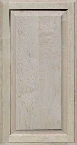 Unfinished Maple Cabinet Door, Square with Raised Panel by Kendor, 30H x 16W