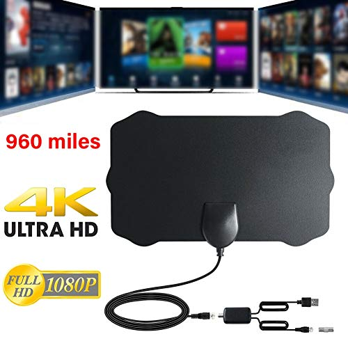 Great Features Of 960 Miles Range Indoor Digital TV Antenna Signal Booster Support HD1080P 4K