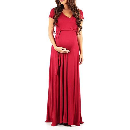 W.zz Damen Mutterschaft Nachthemd Weiches Stillen Nachthemd Kurzarmkleid mit...