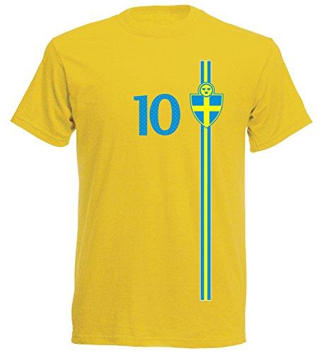 Schweden Kinder T-Shirt Trikot St-1 EM 2016 - gelb Sweden Kids (140)