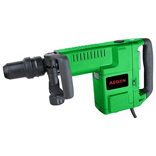 Aegon AH11E Heavy Duty 11kg SDS-Max Breaker/Demolition Hammer/Concrete Breaker with 1 Pointed Bit & 1 Carry Case For Chipping/Demolition