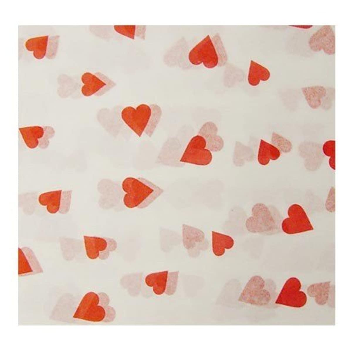 Red Hearts Tissue Paper (4 sheets - 20in. X 26in.)