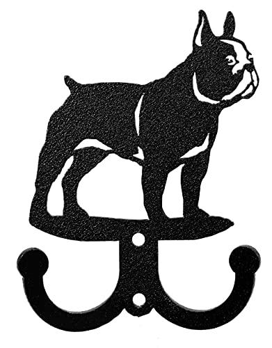 SWEN Products French Bulldog Metal 2 Hook Key Chain Holder Hanger