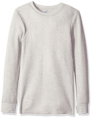 Fruit of the Loom Men#039s Classic Midweight Waffle Thermal Underwear Crew Top 1 amp 2 Packs Light Grey Heather Large