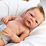 JUYHTY 18 Pulgadas Recién Nacido Reborn Baby Doll and Ropa Set Lavable Realista Soft Silicone Baby Dolls cumpleaños Durante 4 años,Boy