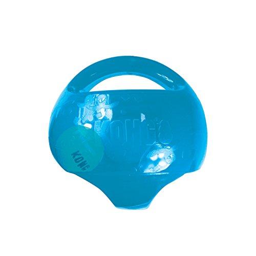 KONG – Jumbler Ball – Interaktives Apportierspielzeug mit Tennisball (Farbvar.) – Für Große/Sehr Große Hunde