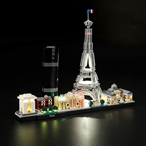 LIGHTAILING Jeu De Lumières pour (Architecture Paris) Modèle en Blocs De Construction - Kit De Lumière A LED Compatible avec Lego 21044(Ne Figurant Pas sur Le Modèle)